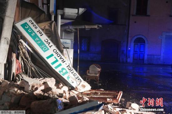 小镇维索的建筑在地震中受损严重。