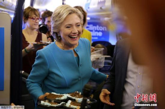 材料图:美百姓主党总统提名人希拉里・克林顿。