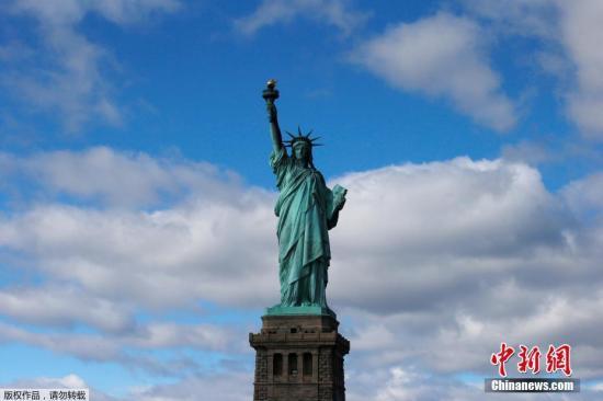 资料图:美国纽约自由女神像。