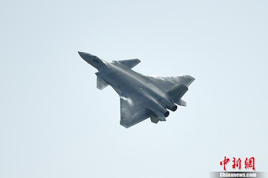 歼-20是由中国航空工业集团研制的新一代隐形战机。 <a target='_blank' href='http://www.chinanews.com/' >中新网</a>记者 金硕 摄