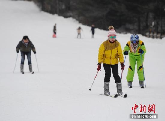 资料图:滑雪。张瑶 摄