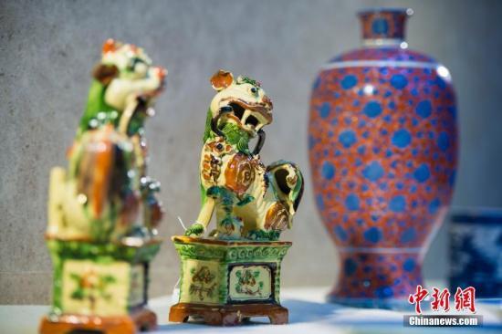 资料图:入藏中国国家南海博物馆的海外文物。 <a target='_blank' href='http://www.chinanews.com/'>中新社</a>记者 骆云飞 摄