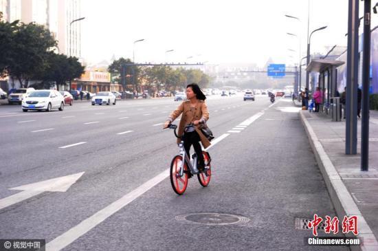 资料图:摩拜单车 图片来源:视觉中国