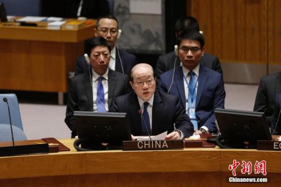 中国常驻联合国代表刘结一。 中新社记者 廖攀 摄