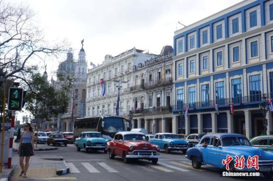 《奇遇人生》拍摄地之一——古巴哈瓦那 /p中新社记者 莫成雄 摄