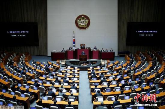 资料图片:韩国国会全体会议。