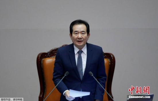 资料图片:韩国国会议长。