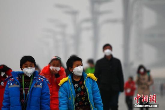 资料图:北京空气污染。记者 富田 摄