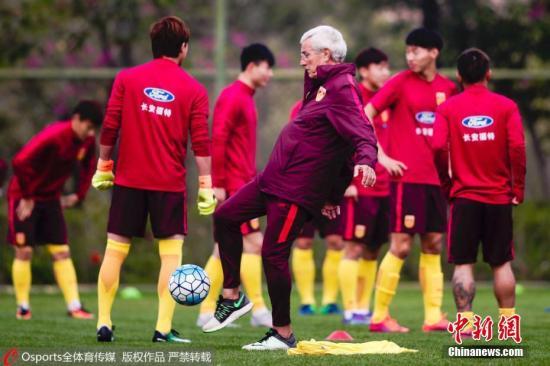 资料图 中国男足训练备战。图片来源:Osports全体育图片社
