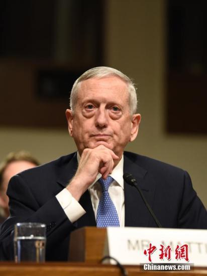 资料图片:美国国防部长詹姆斯・马蒂斯。