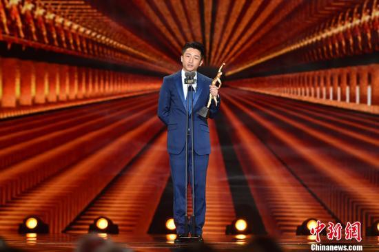 邹市明获年度最佳非奥项目运动员奖。 记者 金硕 摄