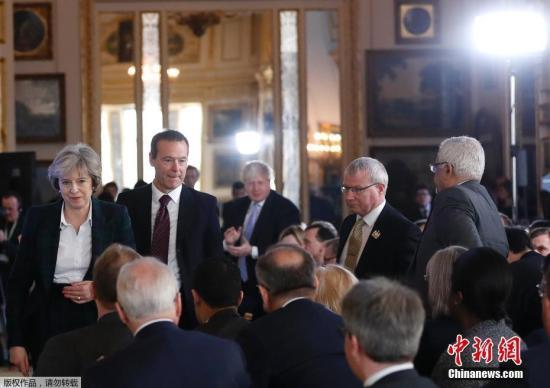 """当地时间1月17日,英国首相特里莎・梅就英国脱欧方案发表演讲,公布较为清晰的""""脱欧路线图""""。="""