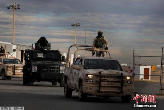 当地时间2017年1月19日,墨西哥华雷斯,墨西哥毒枭古兹曼即将被引渡至美国。