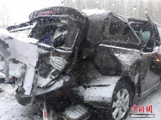 资料图:交通事故(图文无关)。张博 摄