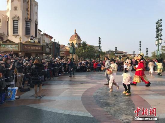 资料图:上海迪士尼度假区。a target='_blank' href='http://www.chinanews.com/'中新社/a发 申海 摄