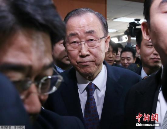 资料图:联合国前秘书长潘基文。