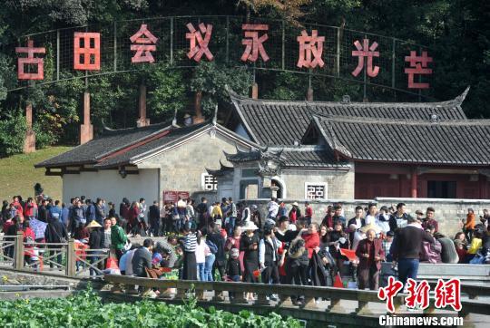 资料图:中国革命圣地上杭古田红色旅游火爆。 张斌 摄