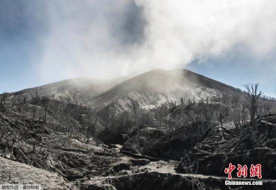资料图:火山喷发。