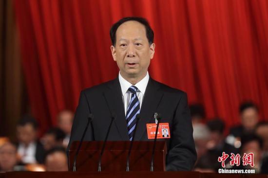 资料图:石泰峰。 中新社记者 泱波 摄