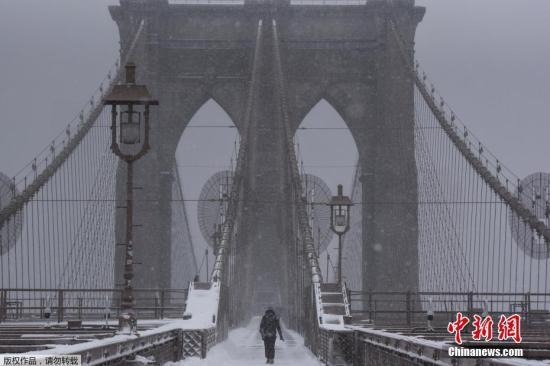 资料图:纽约布鲁克林大桥。