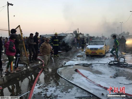 当地时间2月15日,伊拉克巴格达什叶派聚居地发生一起自杀式汽车炸弹爆炸事件,导致至少12人死亡,30人受伤。