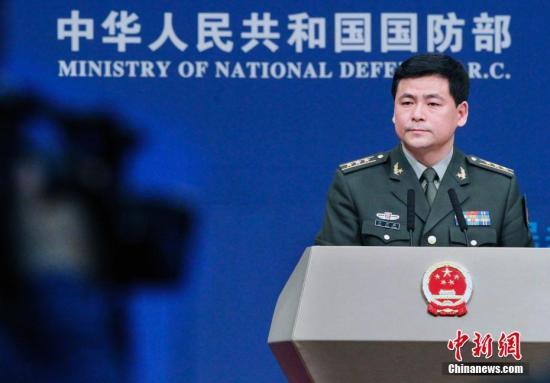 中国国防部新闻发言人任国强。/p中新社记者 宋吉河 摄