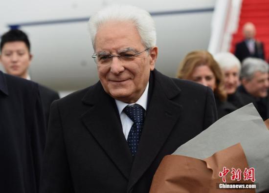 资料图:意大利总统马塔雷拉。 周毅 摄