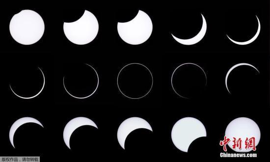 资料图:日食现象。