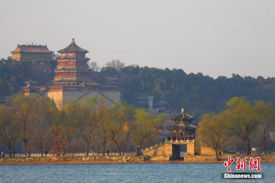 从远处望西堤柳桥与佛香阁。 朱建辉 摄 图片来源:CTPphoto