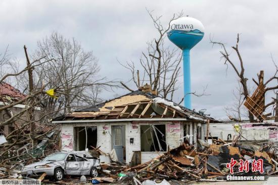 材料图:被秋季风暴体系破坏的衡宇。