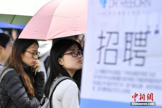 资料图 校园招聘会。记者 陈骥�F 摄