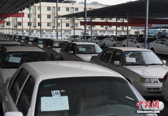 资料图:重庆一二手车市场