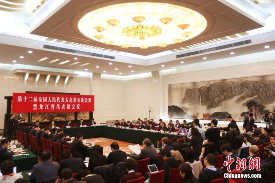 资料图:3月9日,十二届全国人大五次会议黑龙江代表团举行小组会议。记者 泱波 摄