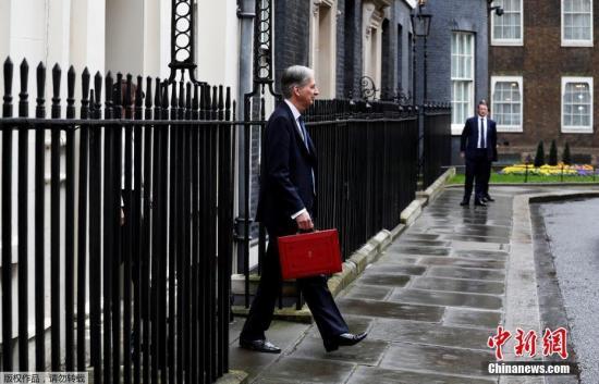 资料图:英国财政大臣菲利普·哈蒙德。