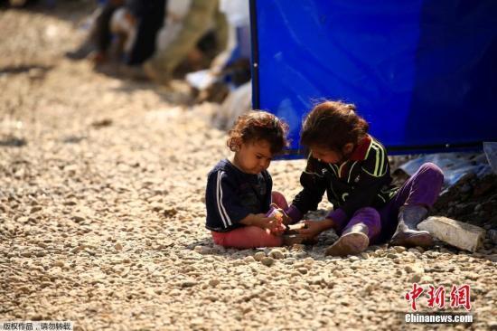 资料图:难民儿童。