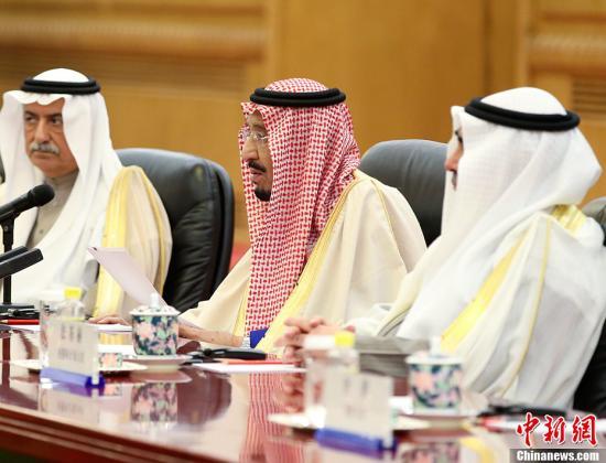 资料图片:沙特阿拉伯王国国王萨勒曼。