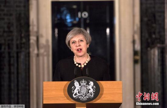 资料图:英国首相特雷莎・梅。