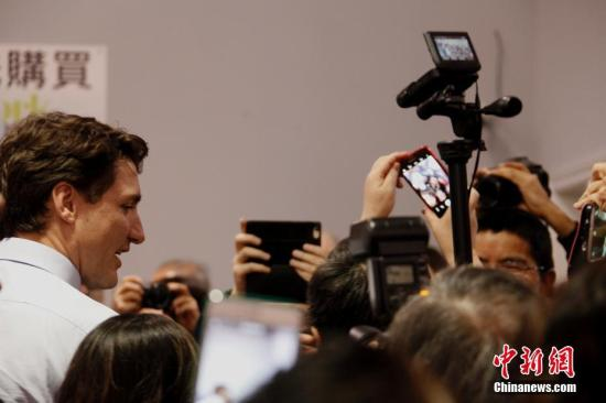 资料图:加拿大总理贾斯廷・特鲁多。<a target='_blank' href='http://www.chinanews.com/'>中新社</a>记者 余瑞冬 摄