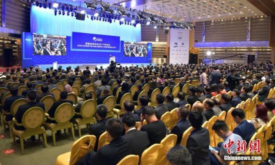 3月25日,博鳌亚洲论坛2017年年会在海南博鳌举行开幕式。 中新社记者 毛建军 摄