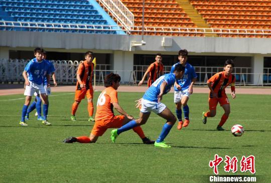 资料图:全运会预赛陕西U20男足与四川比赛。 张一辰 摄