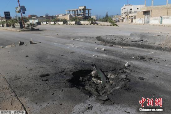 资料图:战火中的叙利亚。