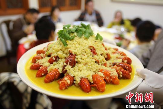 资料图:色香味俱全的小龙虾。(<a target='_blank' href='http://www.chinanews.com/'>中新社</a>记者 泱波 摄)