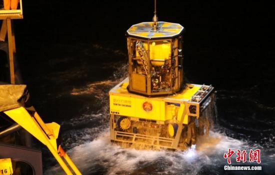 资料图:中国3000米级水下机器人在南海完成海试。 陈朋/摄