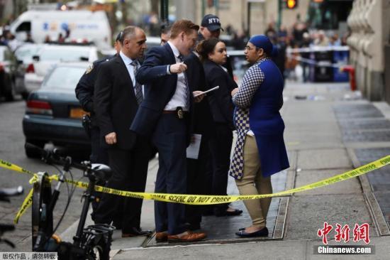 当地时间2017年4月24日,美国纽约,当地发生一起枪击案。