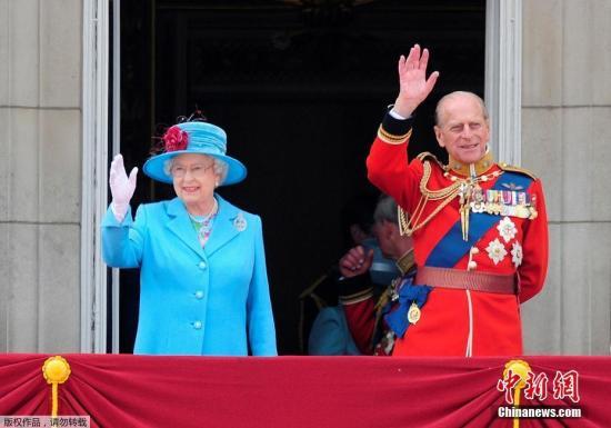 英女王上月刚满91岁,而菲利浦亲王本年6月迈入96岁。(资料图)