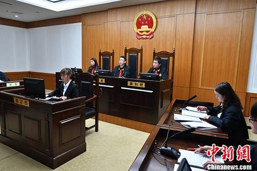 """图为""""全真模拟法庭""""现场。 中新社记者 任东 摄"""