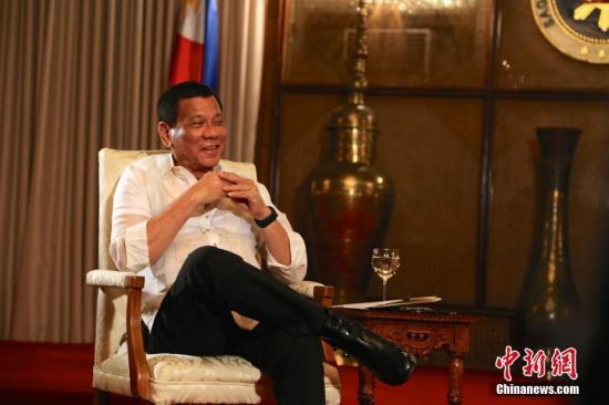 菲律宾总统杜特尔特。 中新社记者 钟欣 摄