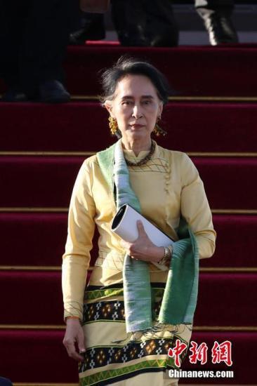 资料图:缅甸国务资政昂山素季。 中新社记者 韩海丹 摄