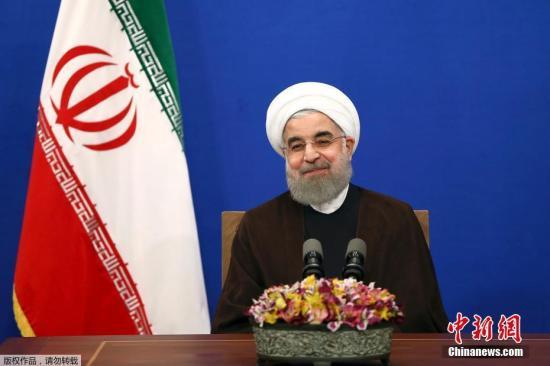 5月20日,在伊朗首都德黑兰,鲁哈尼发表胜选讲话。伊朗内政部5月20日宣布,现任总统鲁哈尼在伊朗第12届总统选举中获胜。