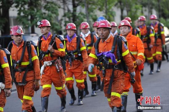 资料图:矿山救援队。 韦亮 摄